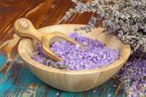 Fototapety Lavender spa. Spa Lavender Salt