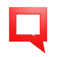 Square red speech bubble