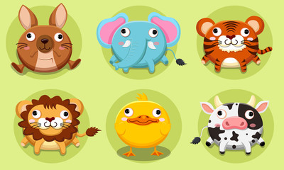 Cute animals cartoons collections