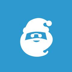 santa icon, white on the blue background .