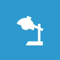 reading-lamp icon, white on the blue background .