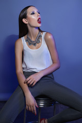 Fashion Model with necklace