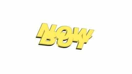Buy now  Animation Schrift pulsierend
