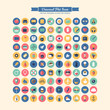 Flat modern icons for business, marketing and design projects