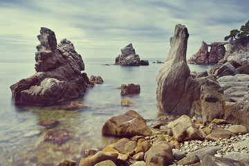 Cala dels Frares, beach at Lloret de Mar, Costa Brava, Spain