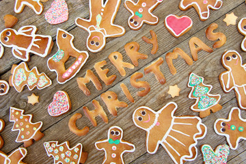 "Gingerbread ""Merry Christmas"""