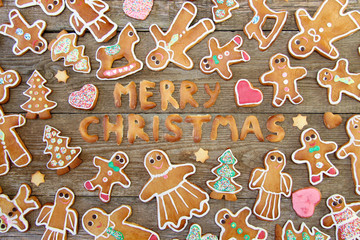 """""""Merry Christmas"""" Gingerbread"""