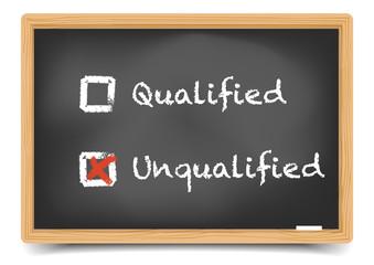 Blackboard qualified unqualified