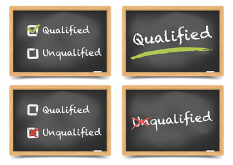 Blackboard qualified unqualified set
