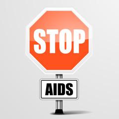 RoadSign Stop AIDS