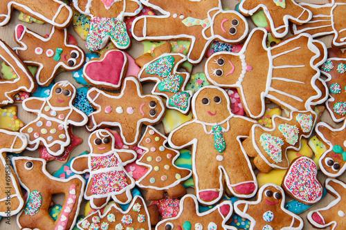 Keuken foto achterwand Uitvoering Bunte Lebkuchen zum Advent