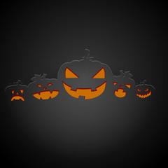 dark halloween pumpkins