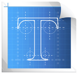 Technical Drawing Fonts - Illustration