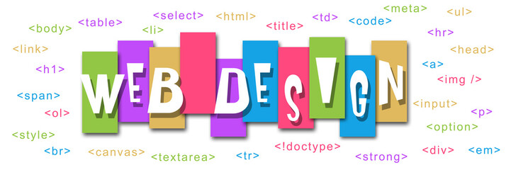 Web Design Colorful Stripes Code