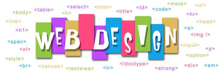 Web Design Colorful Stripes Code