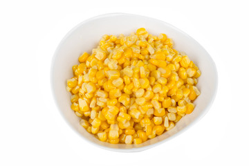 yellow corn in a bowl