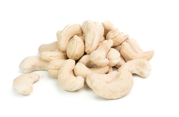 Cashew nuts  isolated on a White Background