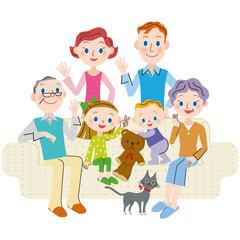 家族 リビング 三世代 外国人