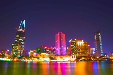 Saigon Riverside view at evening, Ho Chi Minh city