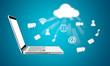 Cloud computing laptop technology connectivity concept