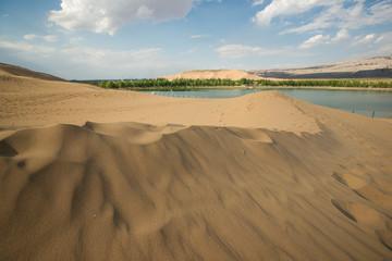 desert scenery,Inner Mongolia, China