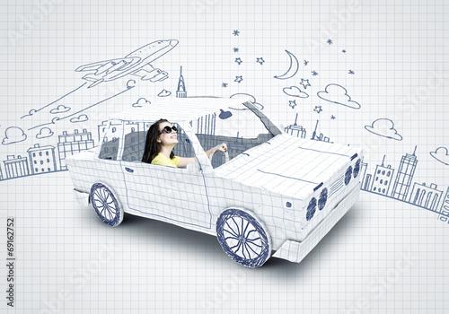 Leinwandbild Motiv Car traveling