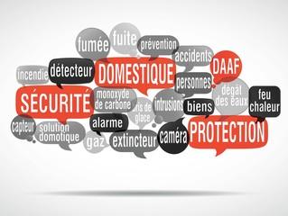 nuage de mots : sécurité domestique