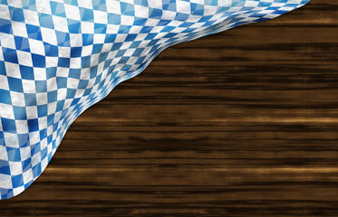 Oktoberfest Bavaria Wood Flag Design