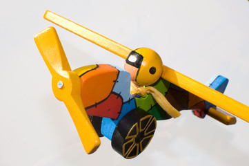 Multi color toy airplane