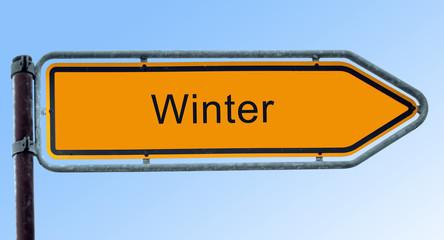 Strassenschild 6 - Winter
