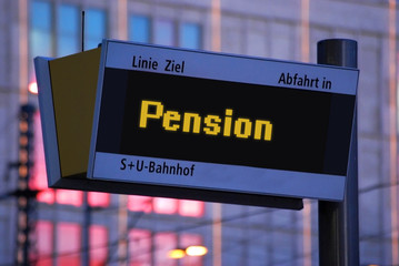 Anzeigetafel 1 - Pension