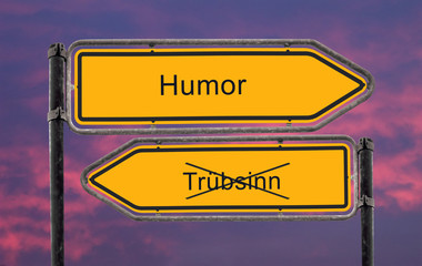 Strassenschild 22b - Humor