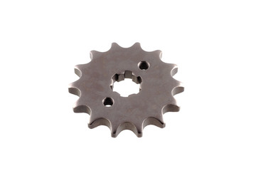 matal steel gears isolated on white background