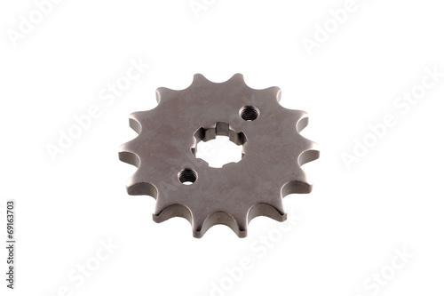 Poster matal steel gears isolated on white background