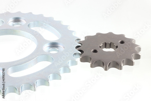 matal steel gears isolated on white background Poster