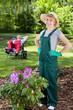 Satisfied female gardener