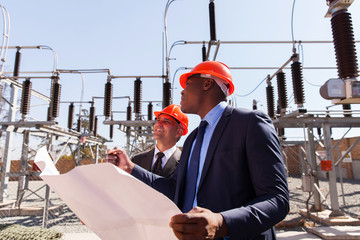 managers working in electric substation