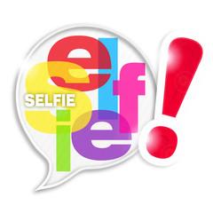 bulle mosaïque lettres : selfie