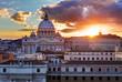 Rome, Vatican city at sunset