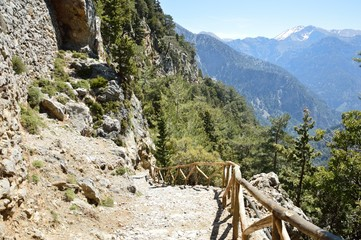 Samaria gorge at Crete island in Greece