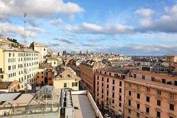 Blick auf Altstadt von Genua, Italien