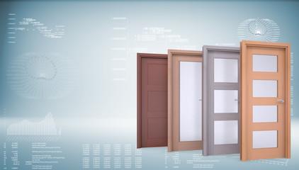 Four wooden doors