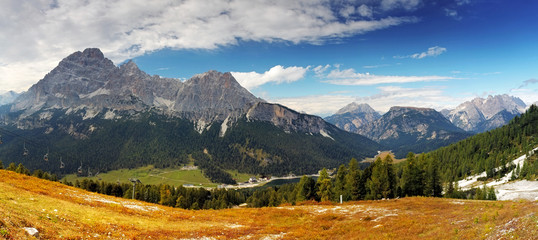 Panoramic view of dolomites, Italy alps