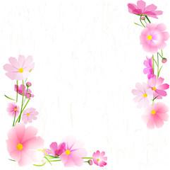 秋桜 和柄 フレーム