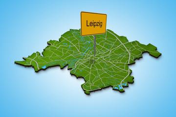 Stadtkarte Leipzig