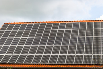 Roof with solar pannels