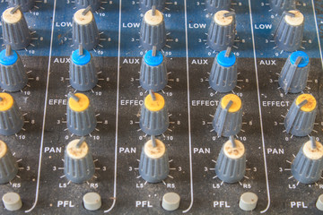 old buttons equipment audio