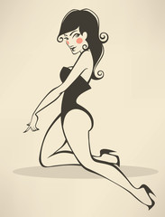 sexy and beautiful pinup girl