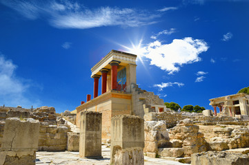 Knossos palace at Crete, Greece Knossos Palace