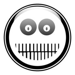 Smile face circle button